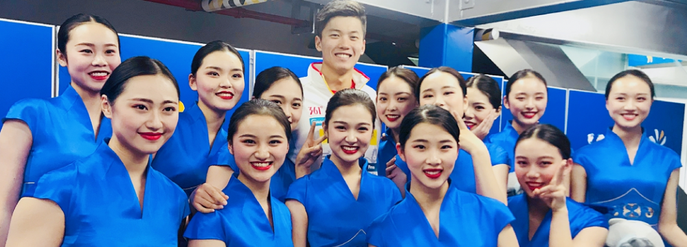 空乘專業學生擔任第14屆FINA世界游泳錦標賽禮賓服務